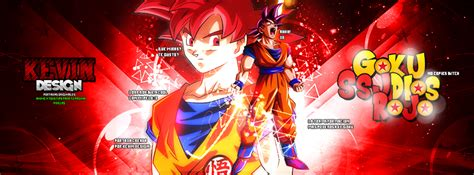 imagenes de goku rojo goku ssj dios rojo by kevineditions123 on deviantart