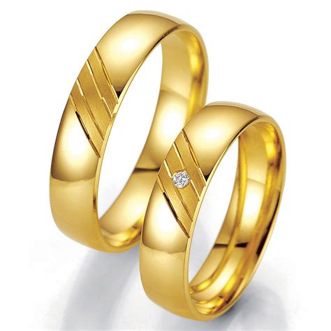 hochzeit ringe hochzeitsringe diagonal gold gelbgold trauringe