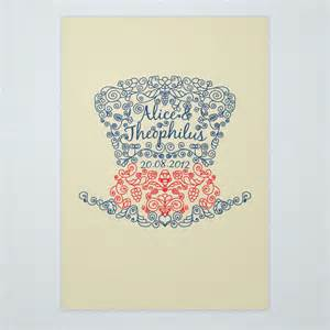 mad hatter invitations ink curls