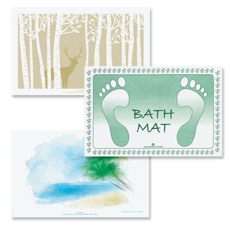 Disposable Mats - disposable paper bath mats hotel bath mats lodgmate