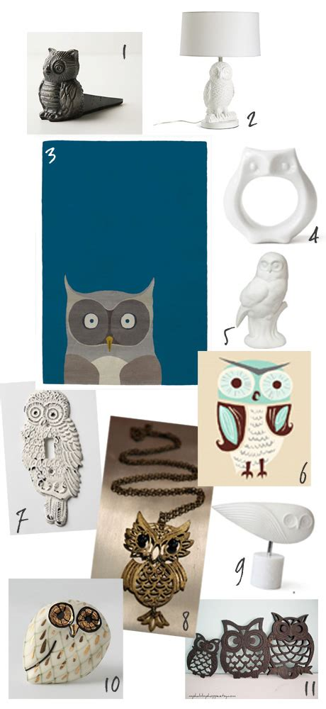 10 Owl Accessories by Owl Decor Mcginley Studio