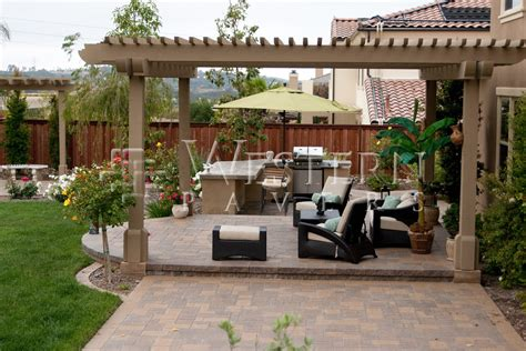 Patio And Backyard Designs San Diego Pavers Raised And Sunken Patio Gallery By Western Pavers Serving San Diego Orange