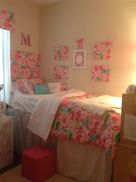 cute headboards for girls cute lilly inspired dorm with headboard curtains wall