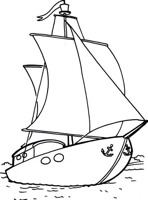 dibujo barco velero para colorear bonito velero dibujalia dibujos para colorear