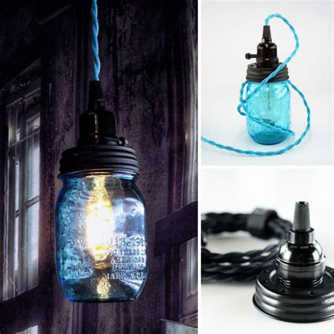 You Had Me At Camo Diy Mason Jar Pendant Light Kit Diy Jar Pendant Lights