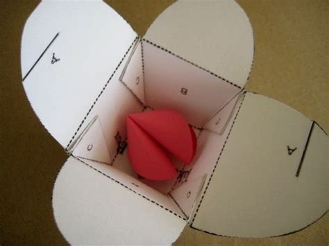 How To Make A Cookie Box Out Of Paper - s day paper fortune cookies 183 how to make a