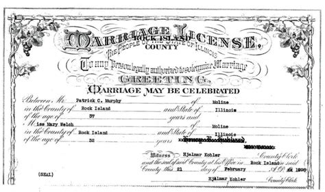 Rock Island County Marriage Records Rock Island County Il Usgenweb Archives