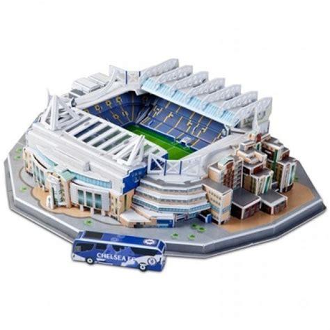 Diskon Puzzle Miniatur Stadion Stamford Bridge Chelsea nanostad puzzle 3d stadion chelsea stamford bridge marea britanie elefant ro