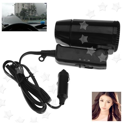 Hair Dryer In Car 12v black compact travelling festival cing portable