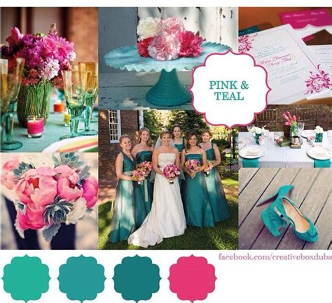 pink teal wedding colour scheme club me s of the week creative box