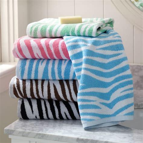 zebra pattern towels zebra towels pbteen