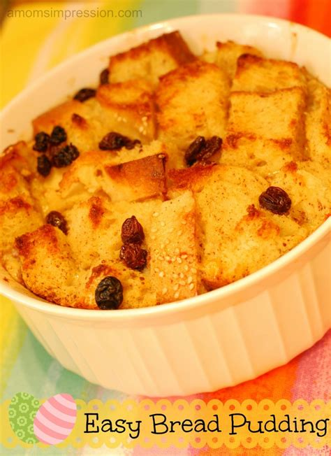 Home Decor Indianapolis by Easy Bread Pudding Recipe