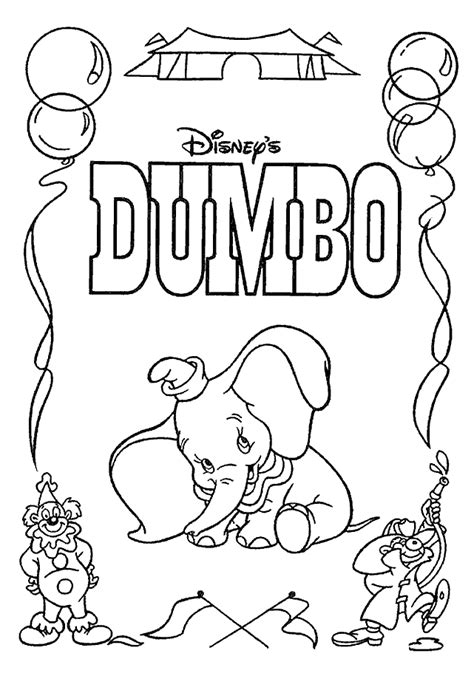dumbo coloring pages coloringpagesabc com