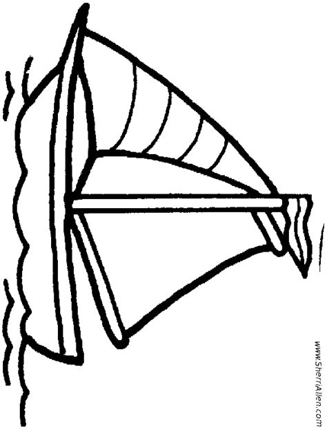 sailboat template for preschool boat coloring page wood burning patterns