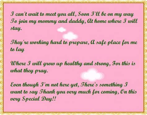 Baby Poems For Showers by Baby Shower Thank You Poems From Unborn Baby Hubpages