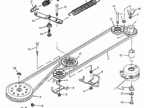 deere 38 mower deck belt diagram deere stx 38 parts diagram how change a mower deck