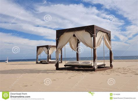 bed on the beach beach beds royalty free stock images image 12145009