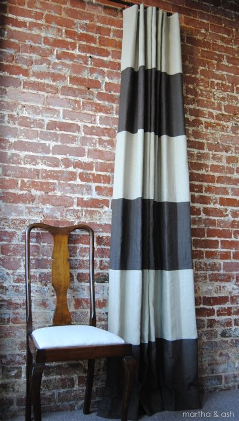 etsy curtain panels 108l striped drapery panel custom curtains 28 color