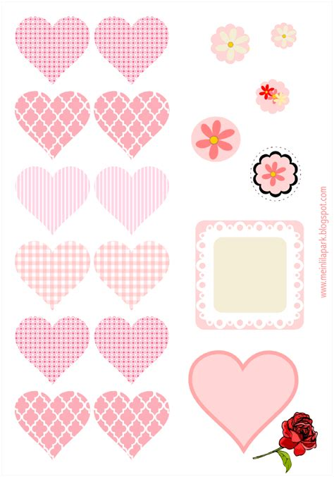 printable heart stickers free free digital heart scrapbooking embellishment diy tags