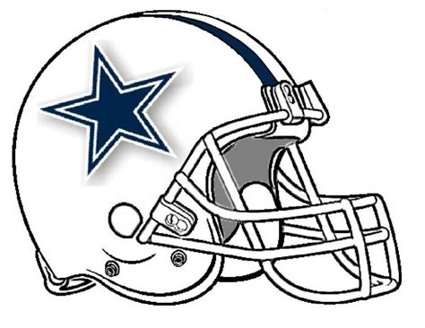 cowboys football coloring page dallas cowboys helmet coloring pages coloring home