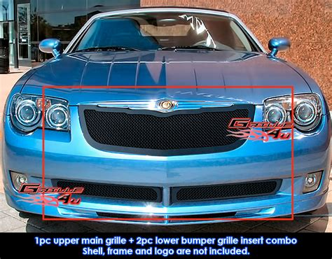 Chrysler Crossfire Grill by For 04 08 Chrysler Crossfire Black Mesh Grille Combo