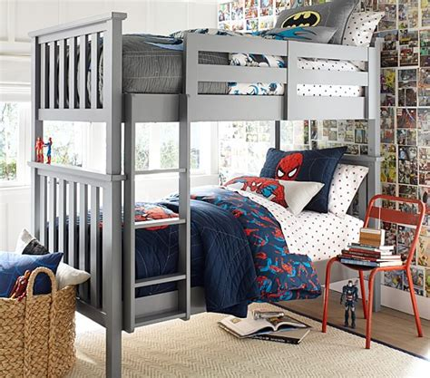 pottery barn kids loft bed elliott twin over twin bunk bed pottery barn kids
