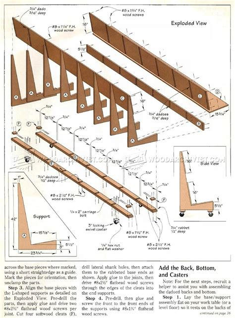 mobile plywood storage rack plans woodarchivist