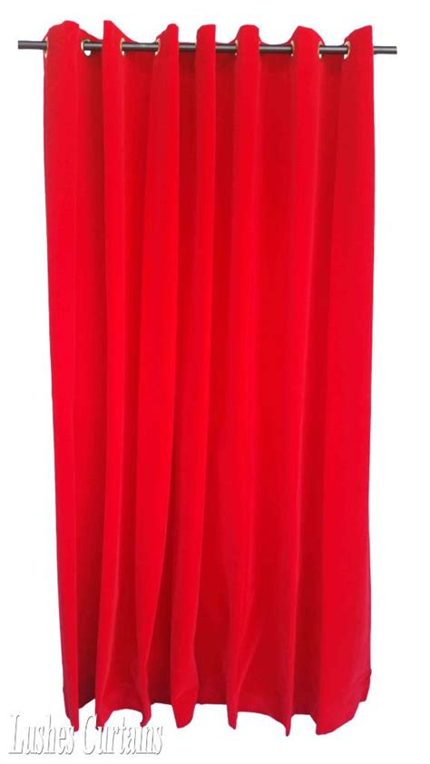 red velvet curtain panels red 84 inch h velvet curtain panel w grommet top eyelets