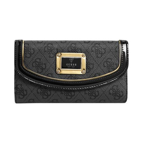 Guess Wallet 10 guess wallet reama slim clutch in gray coal lyst