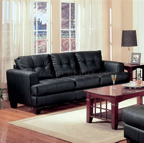 black leather sofa set samuel sofa loveseat set 501681 in black bonded leather