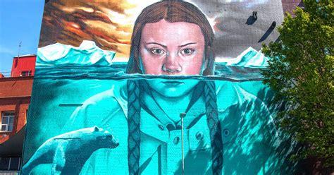 greta thunberg diventa  murales exibartcom