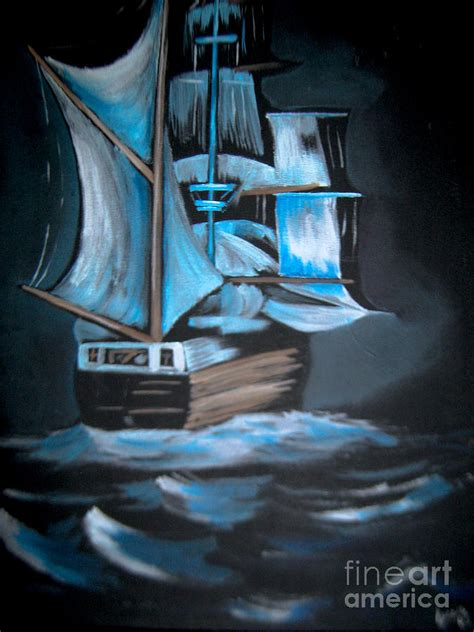 ghost ship painting by simondi