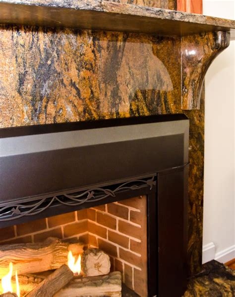 Granite Surround Fireplace by Magma Gold Granite Fireplace Surround Modern Living