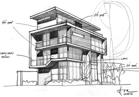 house architecture drawing f2 villa by dang duc hoa block architects 22 homedsgn