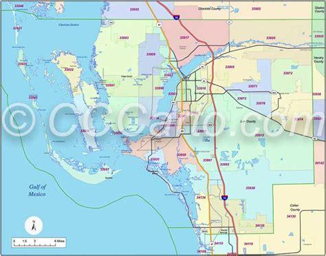 ft co zip code ft myers zip codes map zip code map