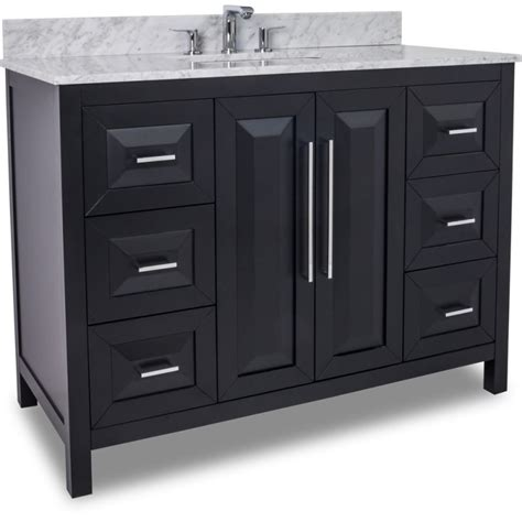 bathroom vanities 48 inches wide jeffrey alexander van101 48 t black cade contempo