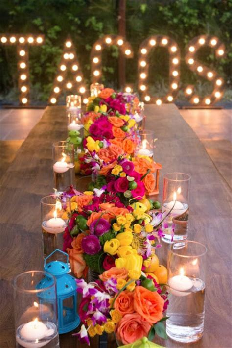 mexican table centerpieces beautiful bridal mexican themed wedding reception