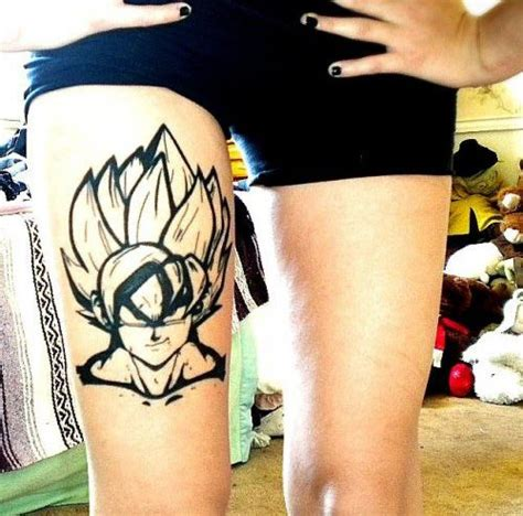 ssj goku tattoo leg tattoos dragon ball pinterest de