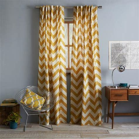 west elm zigzag curtain cotton canvas zigzag curtain maize west elm