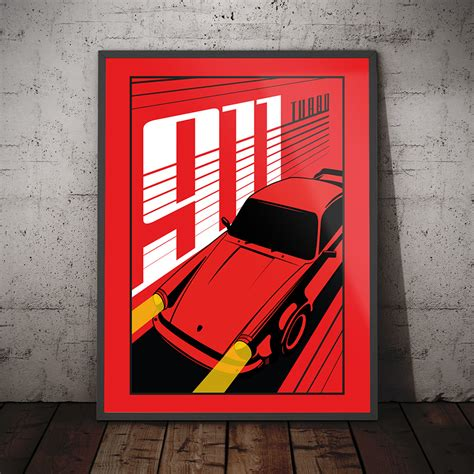 porsche turbo poster porsche 911 turbo poster print graphic design in