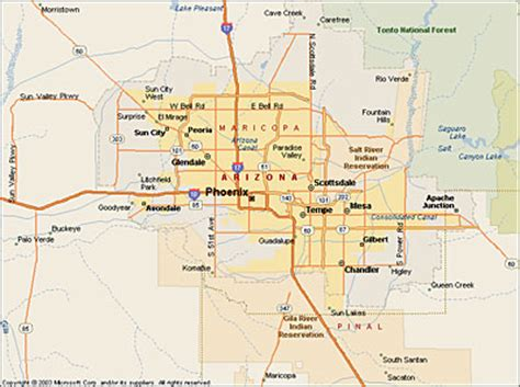 west valley arizona map map of west az pictures to pin on