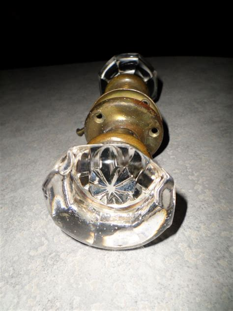 Awesome Door Knobs by Awesome Vintage Pair Door Knobs Brass Back By