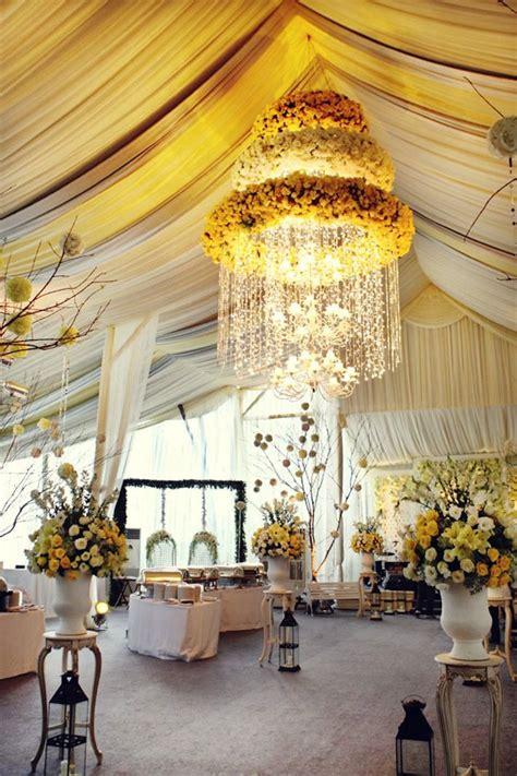 romantic wedding ideas  love floral chandeliers
