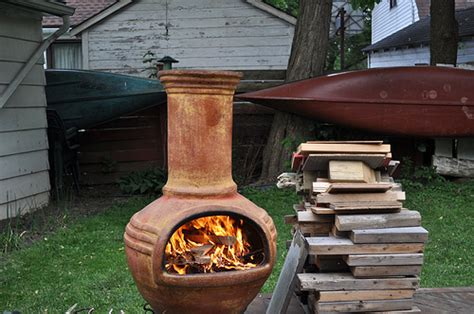 chiminea clay outdoor fireplace outdoor clay chiminea review gardening tips n ideas