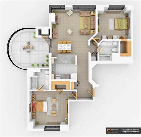 turn floor plan into 3d model 100 3d house floor plan 3 bedroom bungalow house