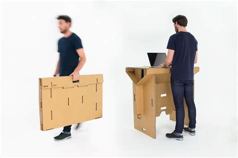portable standing desk mobile cardboard furniture standing portable desk