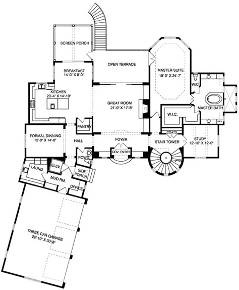 turret house plans round or square turret 93020el architectural designs