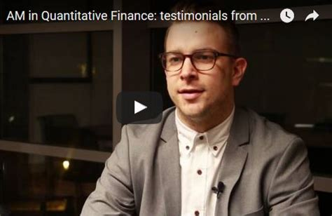 Solvay Ponts Mba by Am In Quantitative Finance Testimonials From Alumni