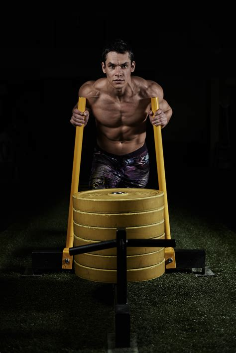 sled push workout  leg drive core conditioning