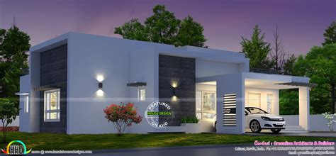 box type home design news 3 bedroom box model house architecture kerala home